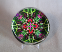 Glass Paperweight Hummingbird Mandala Sacred Geometry Zen Kaleidoscopic Spirited Sprite