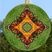 Monarch Butterfly Glass Suncatcher Home Decor Ornament Window Decor Mandala Meditation Zen Unique Gift For Her Yoga Gift 18