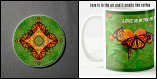 Mug Coffee Tea Hot Chocolate Unique Cute Monarch Butterfly With Coaster Gift Set Synchronized Souls