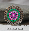 Brooch Lapel Pin Hat Pin Collar Pin Scarf Pin Chakra Mandala Heart Sacred Geometry Unique Gift For Her Tantalizing Temptation