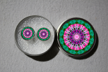 Post Earrings Bleeding Heart Mandala Chakra Sacred Geometry Zen Kaleidoscopic Tantalizing Temptation