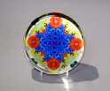 Glass Paperweight Forget Me Not Mandala Boss Gift Teacher Gift Coworker Gift Tender Tribute