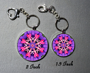 Key Chain Heart Chakra Mandala Purse Charm Bag Charm Unique Gift Thats Amore