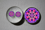 Post Earrings Bleeding Heart Mandala Chakra Circle Earrings With Tin Thats Amore