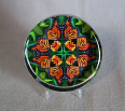 Glass Paperweight Monarch Butterfly Mandala Zen Sacred Geometry Kaleidoscopic Transcendence