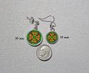 Earrings Dainty Tiny Double Sided Dangle Monarch Butterfly Transcendence