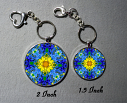 Key Chain Forget Me Not Mandala Purse Charm Bag Charm Unique Gift Unforgettable