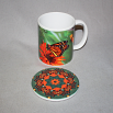 Mug Coffee Tea Hot Chocolate Unique Cute Monarch Butterfly With Coaster Gift Set Aristocratic Aura