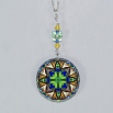 Butterfly Charm Necklace Silver Mandala Sacred Geometry Kaleidoscope Auroras Aria