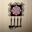 Chickadee Utensil Rack Sacred Geometry Mandala Kaleidoscope Cheerful Chirper