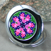 Bleeding Heart Compact Mirror Sacred Geometry Mandala Kaleidoscope Love Struck