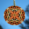 Chickadee Glass Sun Catcher Sacred Geometry Mandala Kaleidoscope Cheerful Chirper