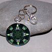 Bear Key Chain Sacred Geometry Mandala Black Beauty