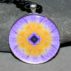 Water Lily Pendant Mandala Sacred Geometry Mandala Kaleidoscope Eye of the Beholder