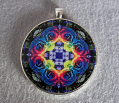 Sale Special Rainbow Rose Mandala Pendant Amulet Necklace Boho Chic Chakra New Age Sacred Geometry Kaleidoscope Unique Gift For Her The Spectrum Of An Open Heart