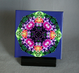 Sale Special Sample Lilac Columbine Decorative Ceramic Tile Coaster Geometric Kaleidoscope Wonderfully Wild