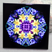 Daffodil Decorative Ceramic Tile Sacred Geometry Mandala Kaleidoscope Sentimental Spring