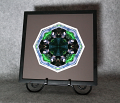 Black Bear Mandala Kaleidoscope Framed Fine Art Print With Mat Kaleidoscopic Nature Photography Wildlife Photograph Unique Wall Decor Woodland Wanderer