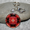 Rose Key Chain Sacred Geometry Mandala Be Mine