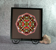 Cardinal Sacred Geometry Wall Decor Mandala Wall Art Scarlet Soloist Framed