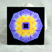 Water Lily Decorative Ceramic Tile Mandala Sacred Geometry Kaleidoscope Eye of the Beholder