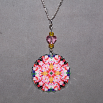 Lily Charm Pendant Boho Chic Mandala New Age Sacred Geometry Hippie Kaleidoscope Tickled Pink