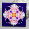 Lily Peruvian Decorative Ceramic Tile Coaster Kaleidoscope Geometric Lavender Lust