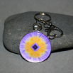Water Lily Keychain Mandala Sacred Geometry Kaleidoscope Eye of the Beholder