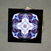Wolf Decorative Ceramic Tile Coaster Sacred Geometry Kaleidoscope Sincere Devotion