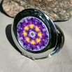 Pansy Compact Mirror Pocket Mirror Boho Chic Mandala New Age Sacred Geometry Hippie Kaleidoscope Purple Prose
