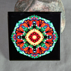 Butterfly Decorative Ceramic Tile Mandala Sacred Geometry Kaleidoscope Summer Solace
