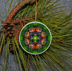 Ornament Christmas Ceramic Monarch Butterfly Mandala All Occasion Sacred Geometry Kaleidoscope Boho Chic New Age Bohemian Modern Unique Monarch Melody