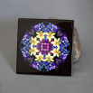 Sale Special Daffodil Decorative Ceramic Tile Sacred Geometry Mandala Kaleidoscope Sentimental Spring Irregular
