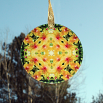 Orchid Glass Suncatcher Geometric Kaleidoscope Mandala Whimsical Grace