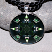 Bear Pendant Mandala Sacred Geometry Kaleidoscope Black Beauty