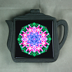 Lily Trivet Cast Iron Teapot Frame Ceramic Tile Mandala Sacred Geometry Kaleidoscope Innocent Flirtation