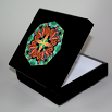 Butterfly Music Box With Ceramic Tile Top Boho Mandala New Age Sacred Geometry Timeless Treasure