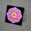 Rose Ceramic Tile Boho Chic Mandala New Age Sacred Geometry Hippie Kaleidoscope A Fanciful Fondness