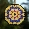 Pansy Suncatcher Boho Chic Mandala Sacred Geometry New Age Kaleidoscope Blissful Beliefs