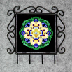 Daisy Organizer Rack Jewelry Rack Key Rack Utensil Rack Boho Chic New Age Sacred Geometry Kaleidoscope Sunny Splendor
