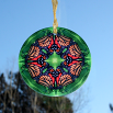 Butterfly Glass Suncatcher Geometric Mandala Kaleidoscope Monarch Melody