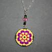 Pansy Charm Necklace Boho Chic Mandala New Age Sacred Geometry Hippie Kaleidoscope Blissful Beliefs