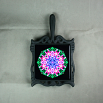 Lily Trivet Cast Iron Frame Ceramic Tile Mandala Sacred Geometry Kaleidoscope Innocent Flirtation