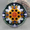 Sunflower Glass Paperweight Sacred Geometry Mandala Kaleidoscope Perpetual Hope