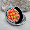 Dragonfly Compact Mirror Pocket Mirror Mandala Sacred Geometry Opulent Solace