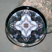 Wolf Glass Paperweight Boho Mandala Sacred Geometry New Age Kaleidoscope Sincere Devotion