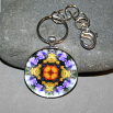 Wildflower Keychain Mandala Sacred Geometry Kaleidoscope Autumn Offerings