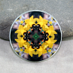 Honey Bee Daffodil Magnet Mandala Sacred Geometry Kaleidoscope Busy Bee