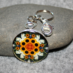 Sunflower Key Chain Sacred Geometry Mandala Perpetual Hope