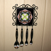 Turtle Utensil Rack Sacred Geometry Mandala Kaleidoscope Poutin' Painter